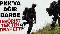 PKK'ya ağır darbe! Terörist itiraf etti, sığınak ve depolar imha edildi