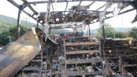 Balıkesir'de yanan otobüsün son hali