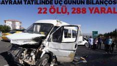 Bayram tatilinde üç günün bilançosu: 24 ölü, 288 yaralı