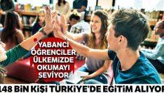148 bin kişi Türkiye'de eğitim alıyor