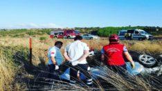 Trafik kazasında 1 kişi ölü 3 kişi yaralandı