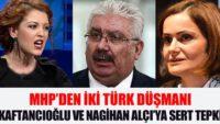 Kaftancıoğlu ve Nagihan Alçı'ya sert tepki