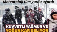 Birçok il için kar ve fırtına uyarısı