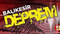 Balıkesir'de peşpeşe 9 deprem