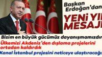 Başkan Recep Tayyip Erdoğan'dan yeni yıl mesajı
