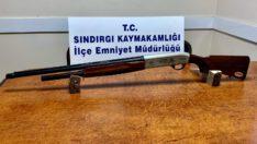 Balıkesir'de 15 silah ele geçirildi.
