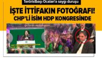 HDP kongresinde teröristbaşı Öcalan'a saygı duruşu!