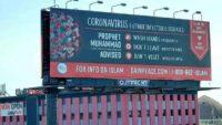 ABD'de corona virüse karşı Hz. Muhammed'in hadisleri reklam panolarında yayınlandı