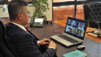 Rektör Kuş Bakanla video konferans yöntemi ile görüştü
