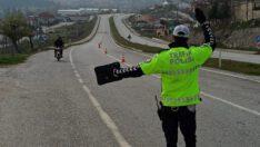 Polis Ekipleri Trafik Uygulaması Yaptı.