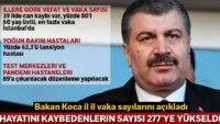 Sağlık Bakanı Koca: 63 kişi daha Covid-19 nedeniyle hayatını kaybetti