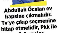 Öcalan'ın mektubu ve heval ablanın MHP hezeyanları!