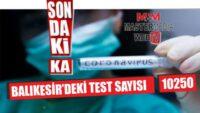 BALIKESİR'DE KORONAVİRÜS TEST SAYISI 10 BİN 250