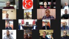 MHP'DE VİDEO KONFERANS İLE TOPLANTI