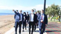 Başkan Yılmaz Burhaniye ve Ayvalık'ta Projeleri İnceledi