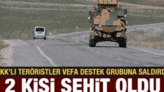 PKK'lı teröristler Vefa Sosyal Destek Grubuna saldırdı: 2 şehit