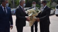 Vali Hasan ŞILDAK, İl Sağlık Müdürü Dr.Fevzi YAVUZYILMAZ'ı ziyaret ederek brifing aldı
