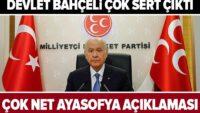 """MHP Genel Başkanı Devlet Bahçeli'den flaş """"Ayasofya Camisi"""" açıklaması"""
