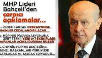MHPGenel BaşkanıDevlet Bahçeli'den flaş açıklamalar