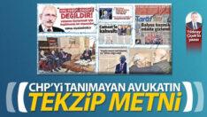 CHP'yi tanımayan avukatın tekzip metni