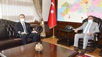 BAGİAD Yönetim Kurulu Üyeleri Vali Hasan ŞILDAK'a Hayırlı Olsun Ziyaretinde Bulundu
