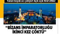 Yunanistan'da Ayasofya Camii üzüntüsü: Bizans İmparatorluğu ikinci kez çöktü