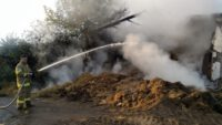 Yangında 4 bin balya saman kül oldu