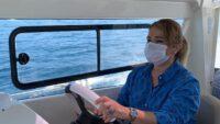 Milletvekili Aydemir kendi kullandığı Bot ile Marmara adalara gitti