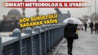 Dikkat! Meteoroloji uyardı… Gök gürültülü sağanak yağış geldi
