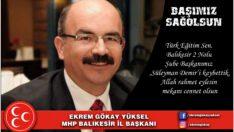 Türk Eğitim Sen. Balıkesir 2 Nolu Şube Başkanı Süleyman Demir vefat etti