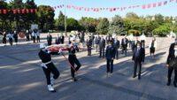 6 Eylül Balıkesir'in Kurtuluş Gününde çelenk sunma töreni