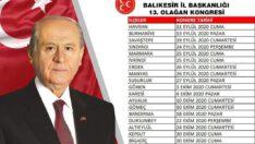 BALIKESİR MHP'DE KONGRELER DÖNEMİ BAŞLIYOR