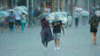 Ayvalık ve çevresinde fırtına ve dolu yağışı etkili oldu