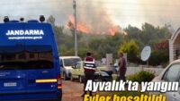 Ayvalık Şeytan Sofrası bölgesinde korkutan yangın!