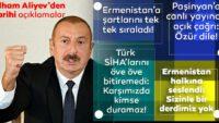 AzerbaycanCumhurbaşkanı Aliyev'den canlı yayında flaş açıklamalar