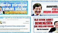 Serok Ahmet Apo'nun mektubuna postacılık yapan sendin!