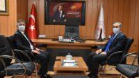 Rektör KUŞ,Balıkesir Gençlik ve Spor İl Müdürü Lokman Arıcıoğlu'nu ziyaret etti.