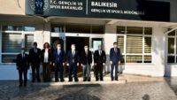 Milletvekili Canbey Balıkesir Gençlik ve Spor İl Müdürlüğünü ziyaret etti