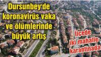 Dursunbey'de covid-19 tedbirleri kapsamında bazı sosyal tesislerin kapatılması kararı alındı.