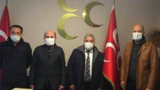 TÜRK SAĞLIK SEN'DEN MHP'YE ZİYARET