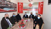 Belediye Başkanı Yücel Yılmaz Bandırma MHP ilçe teşkilatnı ziyaret etti