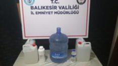 SAHTE ALKOL ELE GEÇİRİLDİ