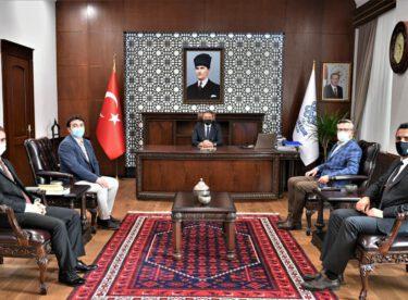 Vali Hasan Şıldak'ı ziyaret ettiler.
