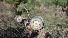 Balıkesir'de Traktör Uçuruma Uçtu 2 Ölü Var