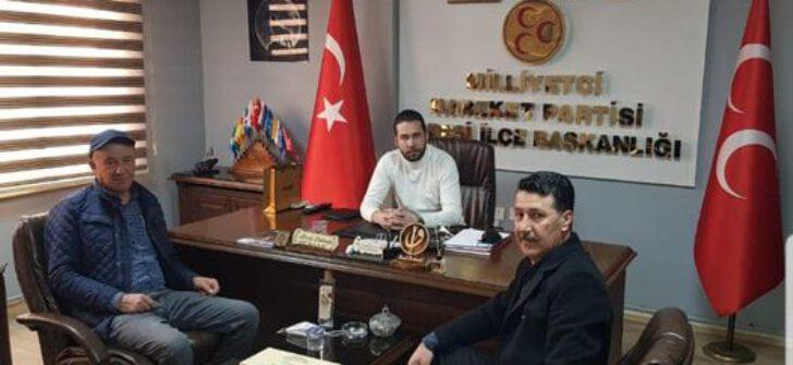 MUHTARLARDAN MHP KARESİ'YE ZİYARET