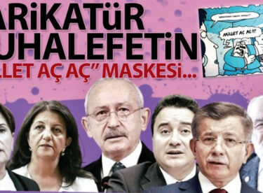 Karikatür muhalefetin 'millet aç aç' maskesi…