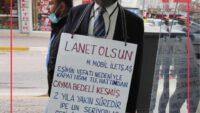 Haksız kesintiye vatandaşın ilginç protestosu