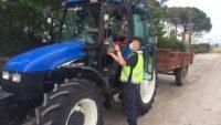 Motosiklet ve traktörlere trafik denetimi..2.55 araç kontrol edildi.