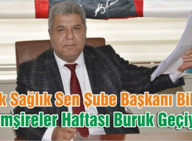 """""""HEMŞİRELER HAFTASI BURUK GEÇİYOR"""""""