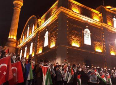 Balıkesir'in dört bir yanında İsrail protestosu